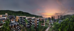 Image sunset at Amari Vogue Krabi with the sunset in the background