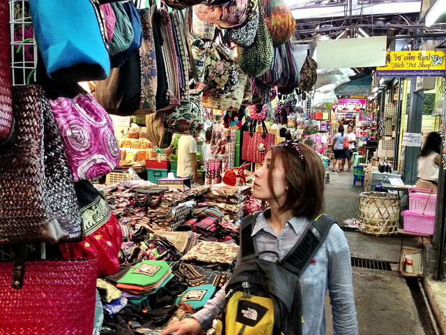 Image showcasing Chatuchak, the capital's most famous Bangkok market!