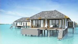 Perspective of Overwater Villa at Amari Havodda Maldives