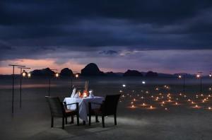 Romantic Candlelit Dinner on the Beach