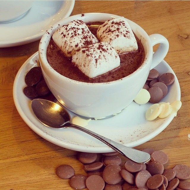 Hot Chocolate served at the Chu Chocolate Bar & Café Bangkok, near the Asok BTS station