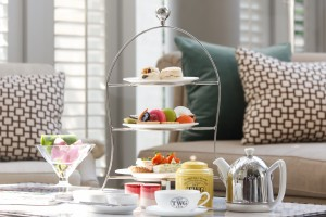 Afternoon Tea served at the Café Claire of the Oriental Residence Bangkok on Wireless Road, near the Ploenchit BTS station