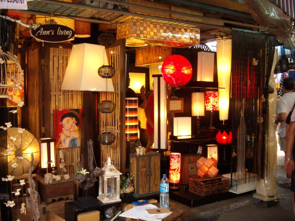 Decorative lamps at chatuchak weekend market source for Thailand home decor