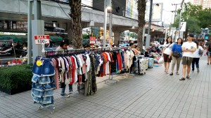 Clothing Stall outside the Platinum Fashion Mall