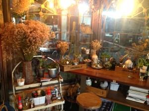 Decorations inside B-Story Café & Restaurant, Bangkok