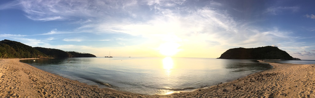 Sunset at Mae Haad Bay and Koh Ma