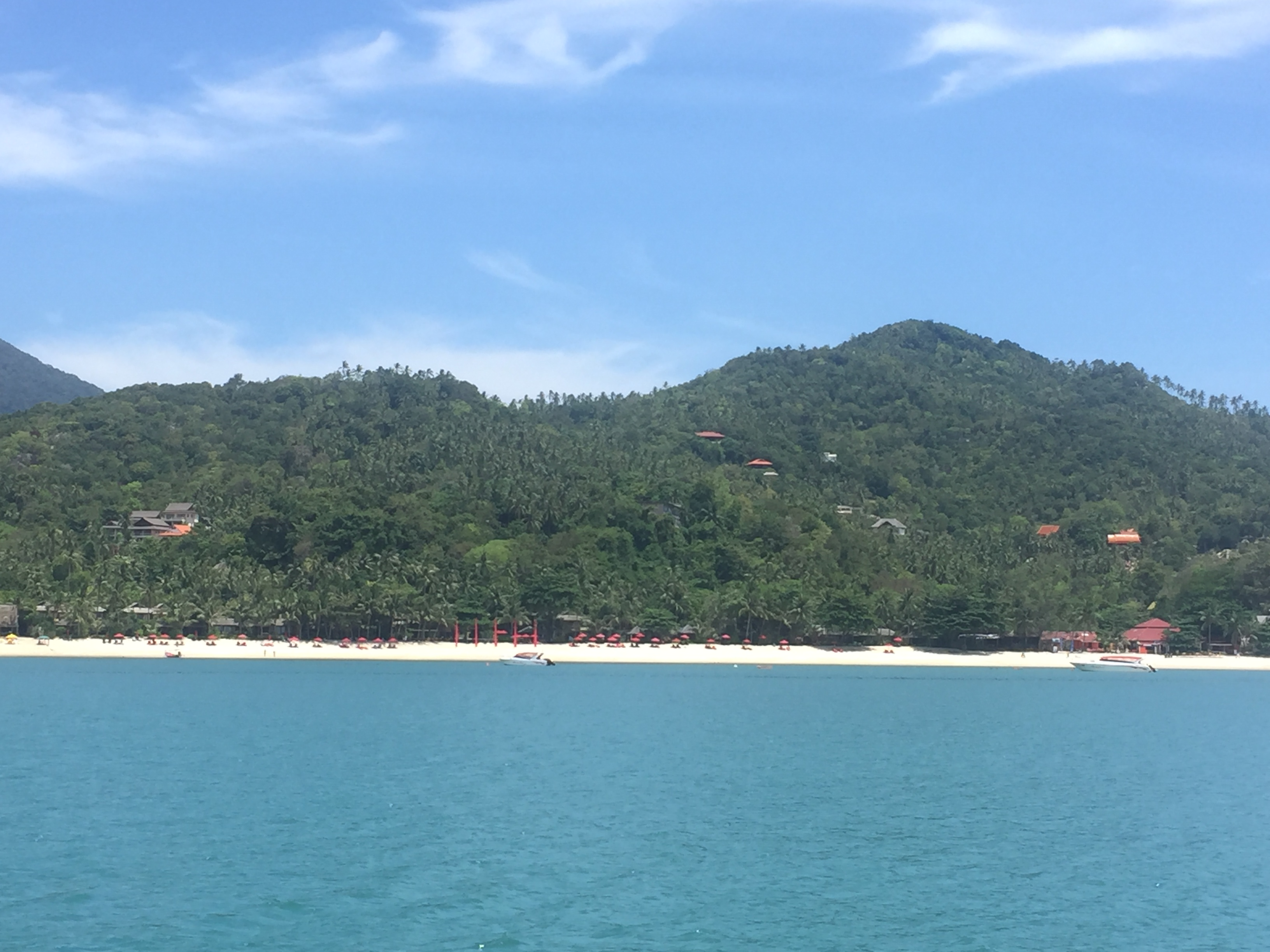 Thong Nai Pan Bay from the ocean
