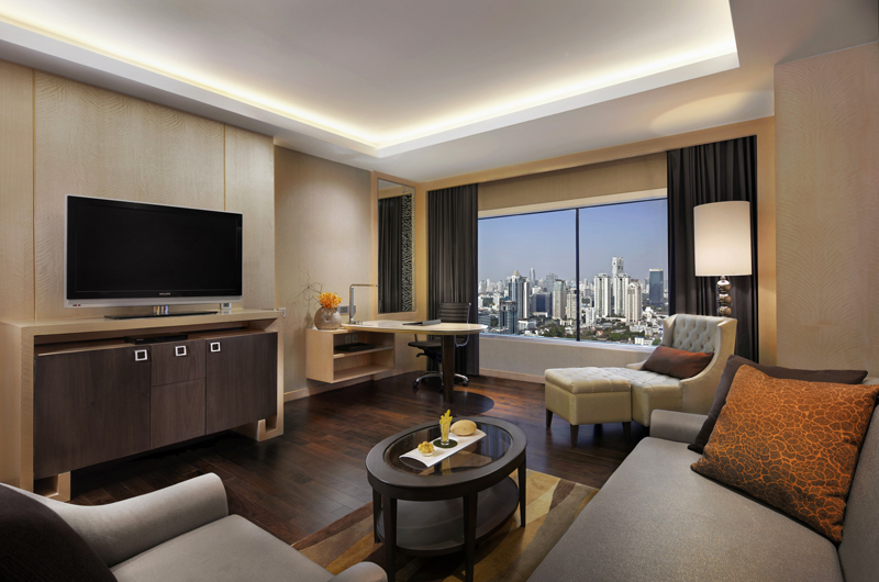 Living Room of Corner Suite at Amari Watergate Bangkok