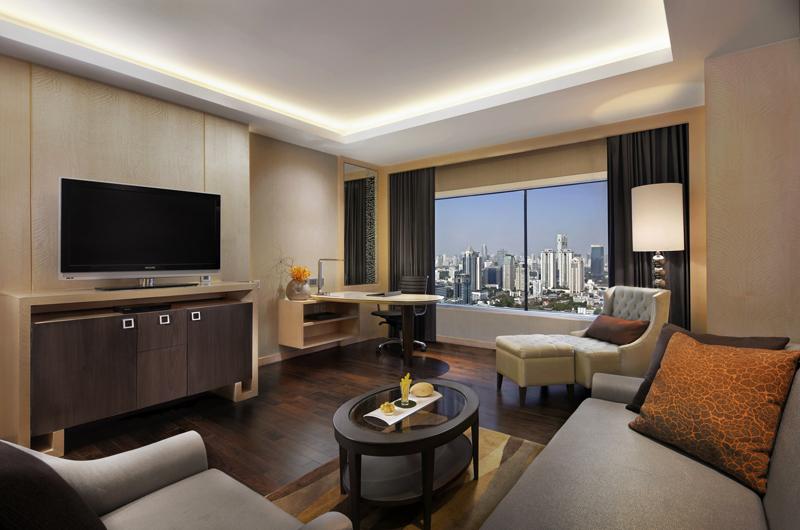 Living Room of Corner Suite at Amari Watergate Bangkok
