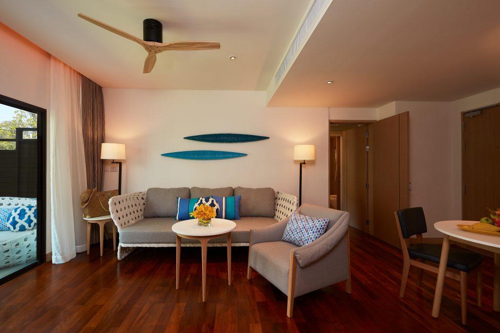 Amari Koh Samui - Two Bedroom Family Suite Beach Wing Living area